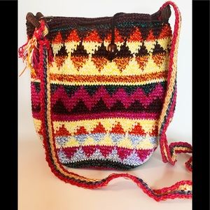 Handbags - Multi-color Woven Boho Festival Bucket Bag